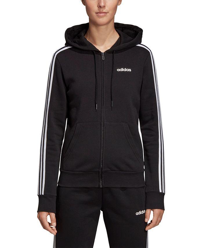 adidas - Essential Fleece 3-Stripe Zip Hoodie