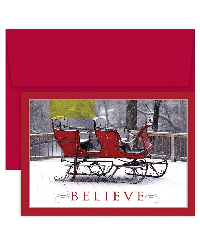 Masterpiece Cards Masterpiece Studios Believe Sleigh Holiday Boxed Cards