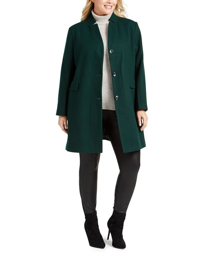 DKNY - Plus Size Stand-Collar Coat
