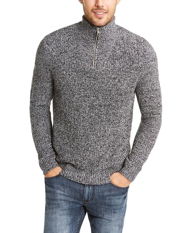 INC International Concepts INC Men's Quarter-Zip Sweater, Created for Macy's