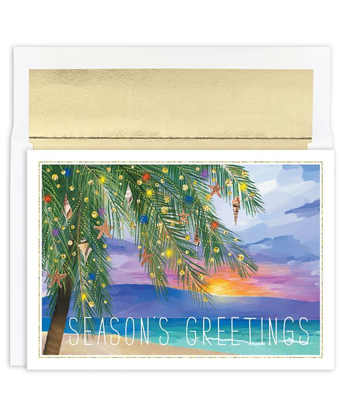 Masterpiece Studios - Masterpiece Tropical Sunset Holiday Boxed Cards