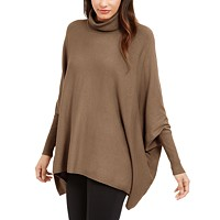 Deals on Alfani Turtleneck Poncho Sweater