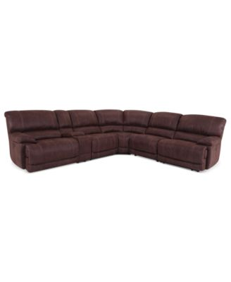 Ricardo Fabric Reclining Sectional Sofa, 3 Piece Power Recliner ...