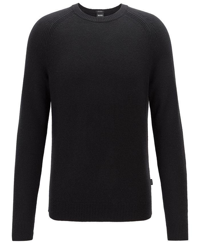 Hugo Boss - Men's Banilo Regular-Fit Crew-Neck Cashmere Sweater