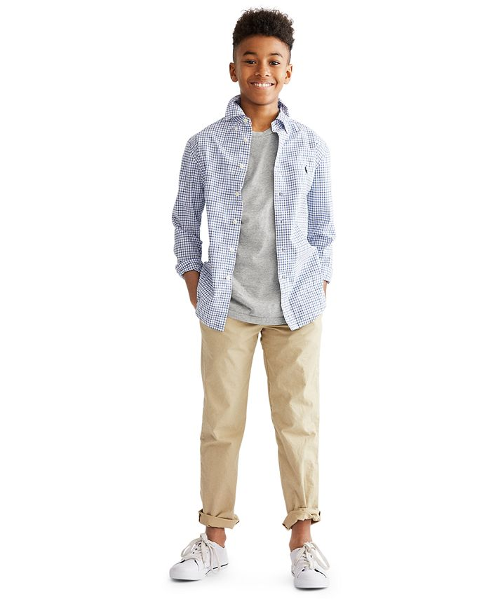 Polo Ralph Lauren - Big Boys Cotton Poplin Sport Shirt