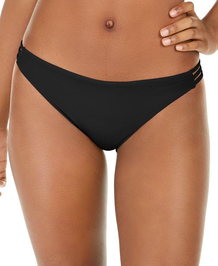 Roxy - Juniors' Solid Beach Classics Strappy Bikini Bottoms