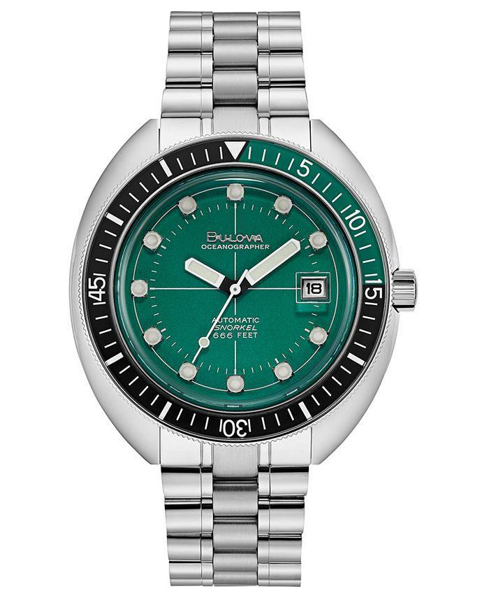 Bulova - Men's Automatic Devil Diver Stainless Steel Bracelet Watch 44mm