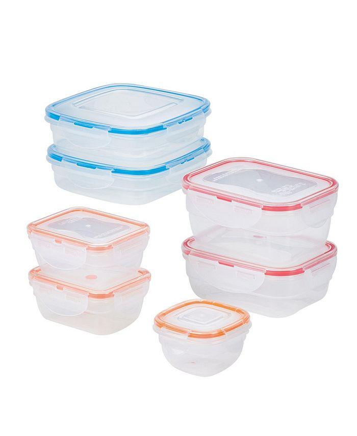 Lock n Lock - Easy Essentials Color Mates Assorted 14-Pc. Food Storage Container Set