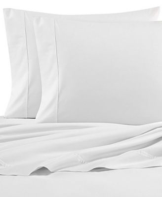 Solid Cotton Percale Twin Sheet Set