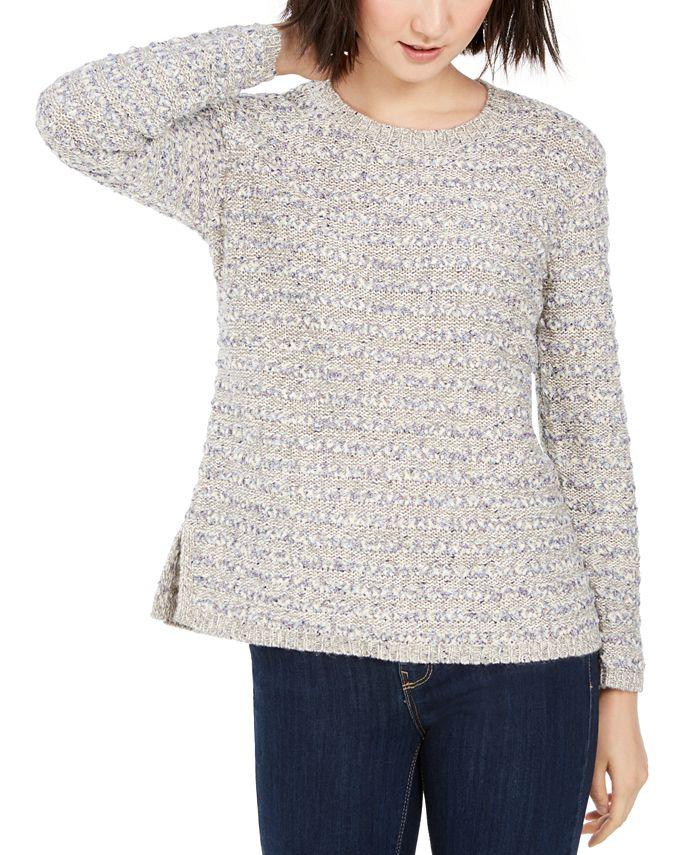 Style & Co - Striped Crewneck Sweater
