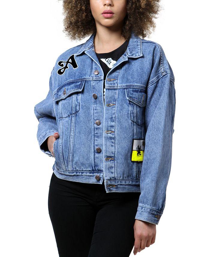 ARTISTIX - Patched Art Print Denim Jacket