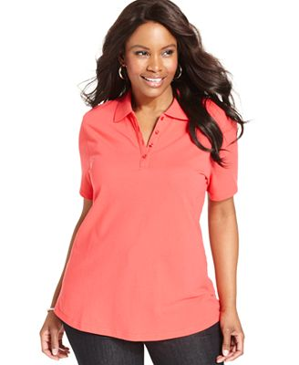 Plus Size Polo Shirtsugg Stovle