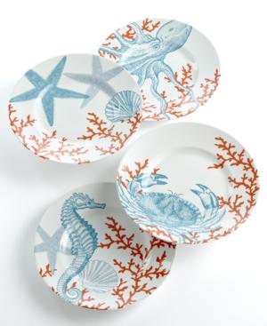 222 Fifth Dinnerware, Set of 4 Coastal Life Assorted Dessert Plates $ 50.00
