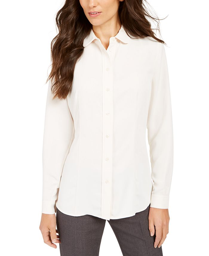 Anne Klein - Peter Pan-Collar Blouse