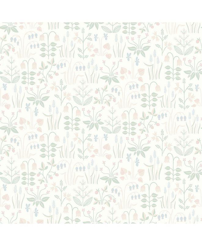 "Wall Vision 21"" x 396"" Strawberry Field Garden Wallpaper"