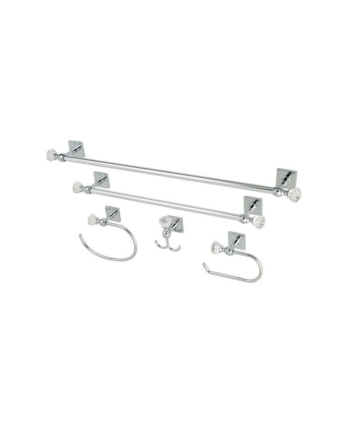 Kingston Brass - Celebrity 18-Inch and 24-Inch Towel Bar Bathroom Accessory Combo in Polished Chrome