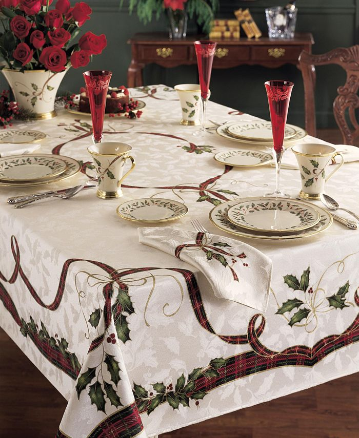 "Lenox - Holiday Nouveau Table Cloth, 60 x 84"""