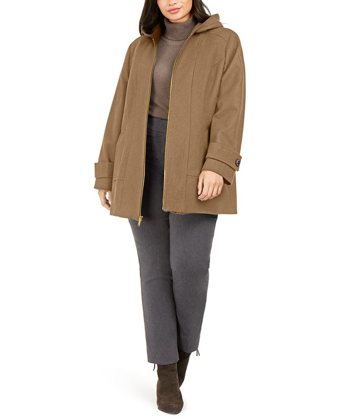 London Fog - Plus Size Hooded Coat