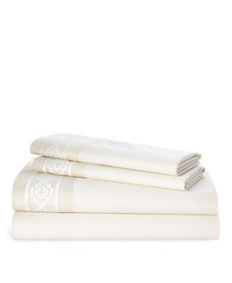 Ralph Lauren Mason Embroidered Queen Sheet Set