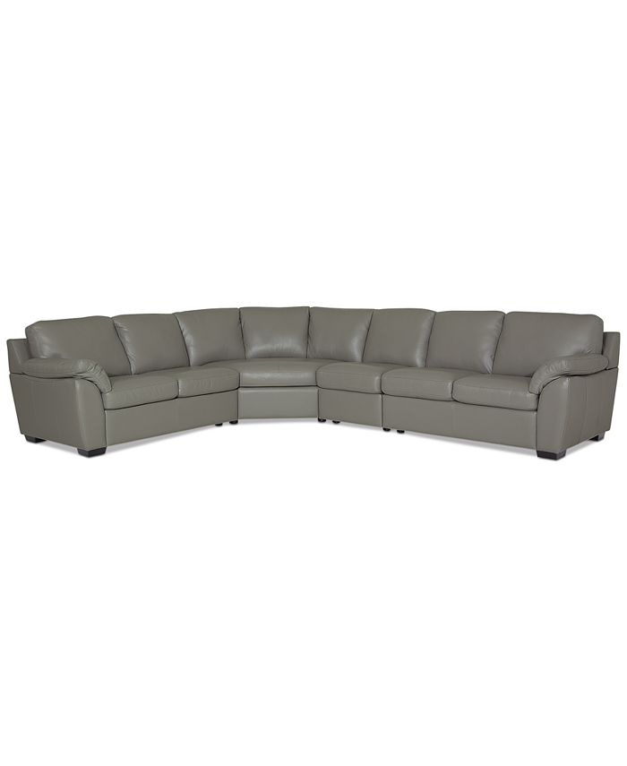 Furniture - Lothan 4-Pc. Leather Sectional Sofa