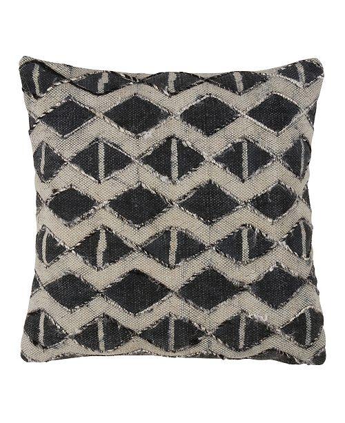 Saro Lifestyle Embellished Diamond Cotton Throw Pillow 18 X 18 Reviews Decorative Throw Pillows Bed Bath Macy S