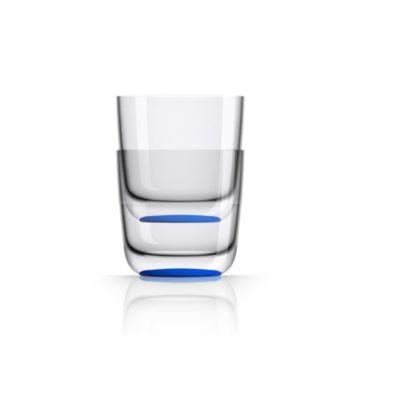 by Palm Tritan Whisky Tumbler with Klein-blue non-slip base, Set of 2