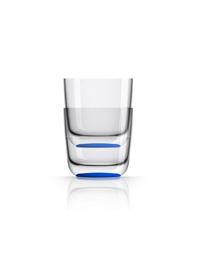 Marc Newson - Whisky Tumbler with Klein-blue non-slip base, Set of 2