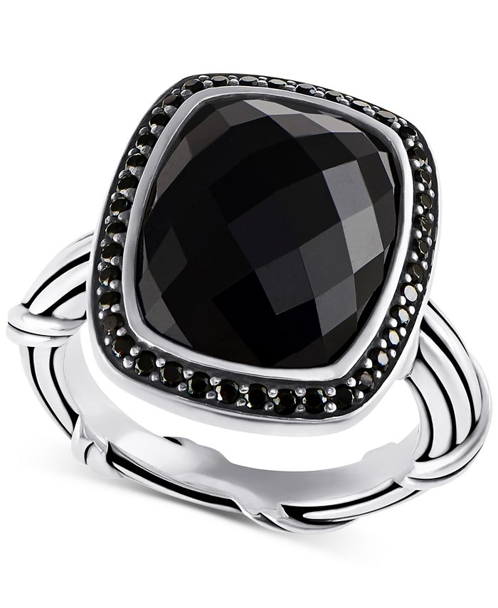 Peter Thomas Roth - Onyx (8-7/8 ct. t.w.) & Black Spinel (1/3 ct. t.w.) Ring in Sterling Silver