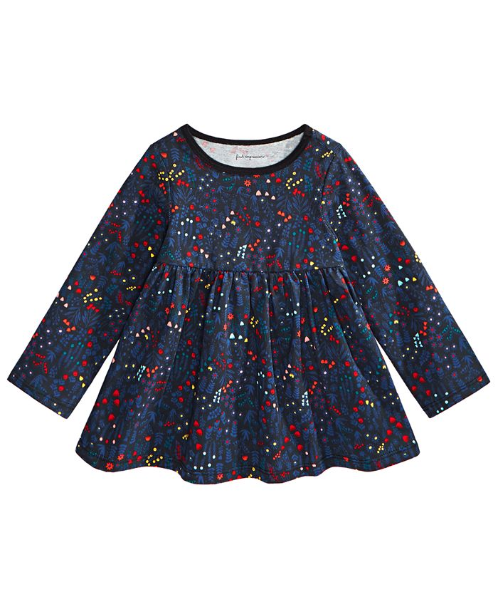 First Impressions - Baby & Toddler Girls Holiday Floral Tunic T-Shirt