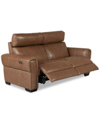 Josephia 2-Pc. Leather Sectional with 2 Power Recliners, Created for Macy's