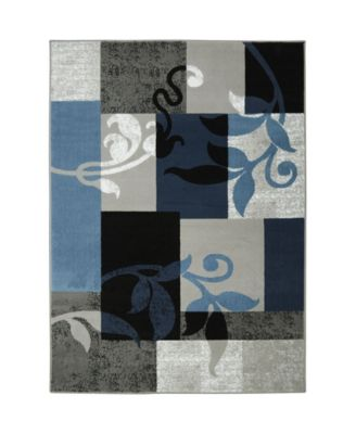 "Haven Lane HAL01 Blue 5'2"" x 7'2"" Area Rug"