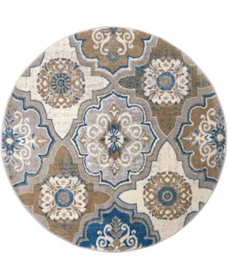 """Haven HAV01 Taupe 7'10"""" Round Area Rug"""
