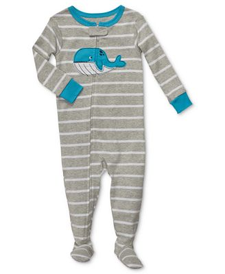 These footed pajamas are sure to become your kid's favorite! Our fun and cozy pajamas come in a selection of colors, patterns, in, cotton, fleece and chenille for boys .