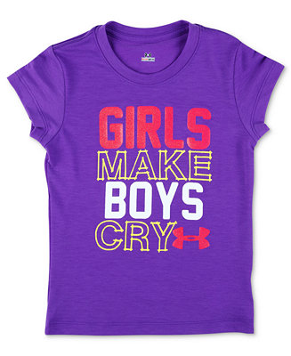 Under armour baby t shirt baby girls slogan girls make for Under armour shirts for kids