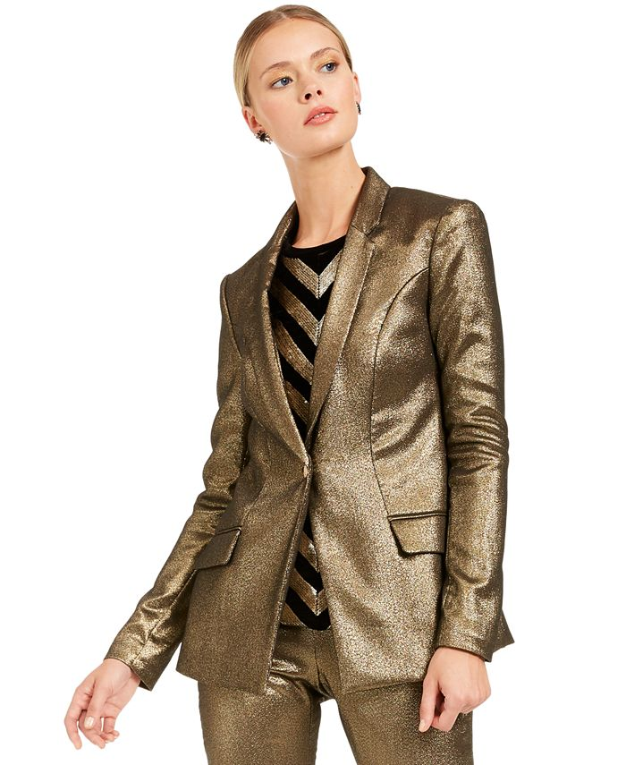 INC International Concepts - Metallic Blazer