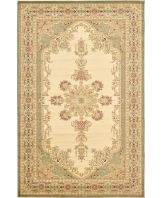 Belvoir Blv1 Ivory/Green 5' x 8' Area Rug