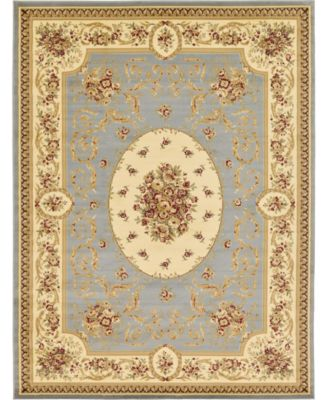 Belvoir Blv4 Light Blue 6' x 6' Round Area Rug