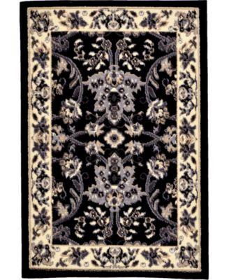 Arnav Arn1 Black 4' x 6' Area Rug