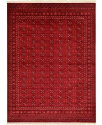 Vivaan Viv1 Red 4' x 6' Area Rug
