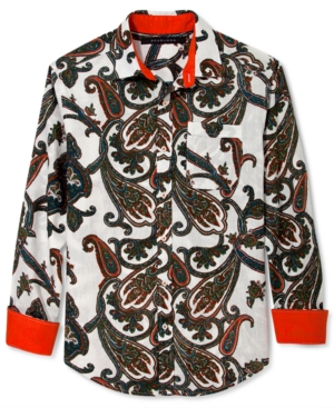 Sean John Shirt Poison Paisley Print Long Sleeve Shirt