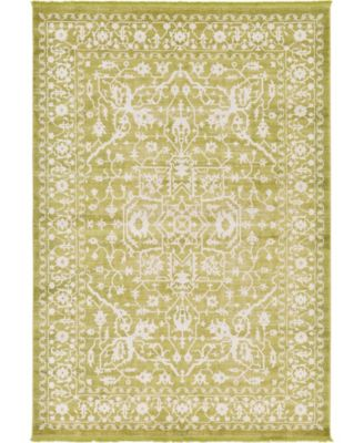 Norston Nor1 Light Green 4' x 6' Area Rug