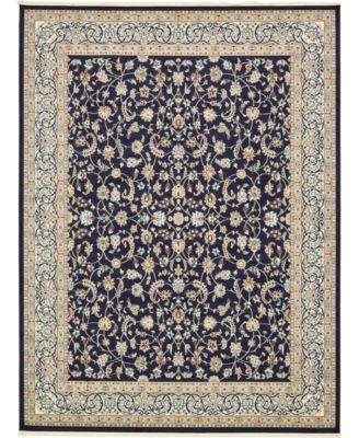 Zara Zar1 Navy Blue 5' x 8' Area Rug