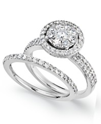 prestige unity diamond engagement ring and wedding band ring in 14k white gold 1 - Macy Wedding Rings