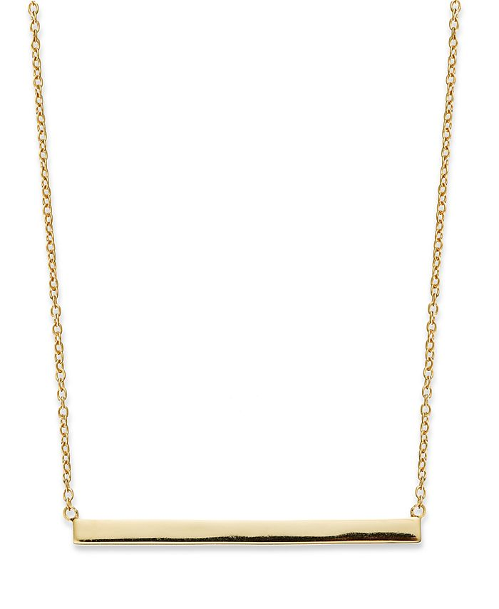 Giani Bernini - 18k Gold over Sterling Silver Necklace, Bar Necklace