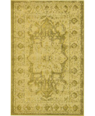 Sana San6 Yellow 8' x 8' Round Area Rug