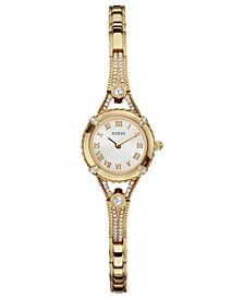 GUESS Watch, Women's Gold Tone Bracelet 22mm U0135L2