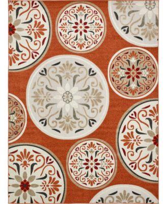 Pashio Pas4 Terracotta 9' x 12' Area Rug