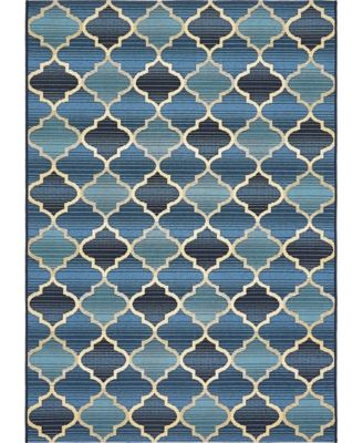 Pashio Pas1 Blue 2' x 6' Runner Area Rug