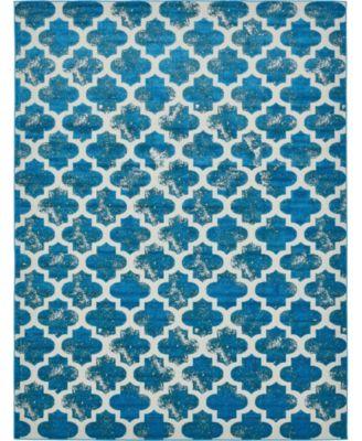 Pashio Pas2 Turquoise 8' x 10' Area Rug