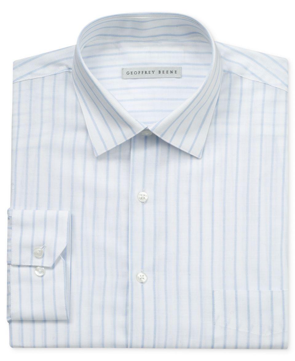 Geoffrey Beene Dress Shirt Stripe Long Sleeve Shirt Dress Shirts Men